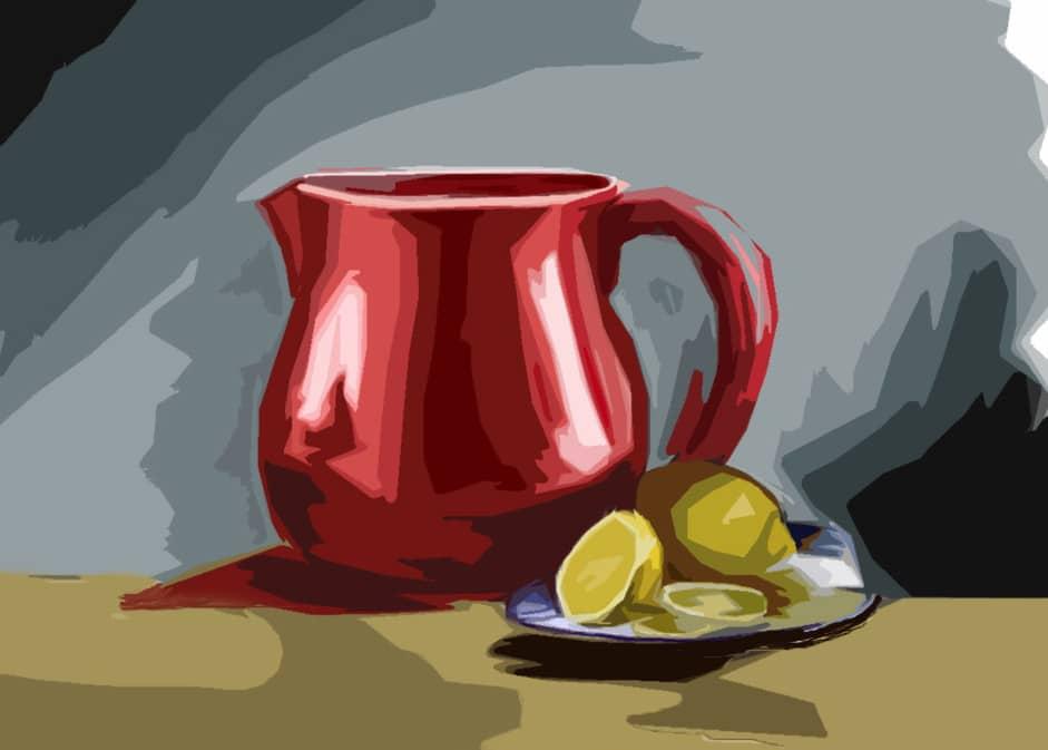Красный чайник.