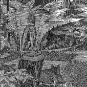 Летний вечер в саду (из цикла «Сады России») (1), художник Евгенияя Соколикова
