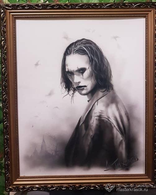 Портрет персонажа из фильма ворон., художник Денис Тихонов