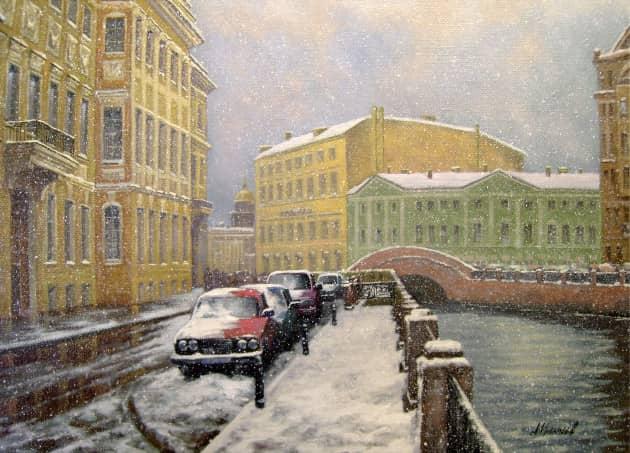 Зимний день на Мойке.