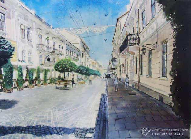Черновцы, улица Кобылянской