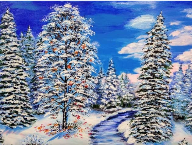 рябина на снегу