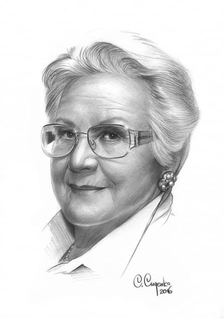 Портрет А.Н.Шатиловой