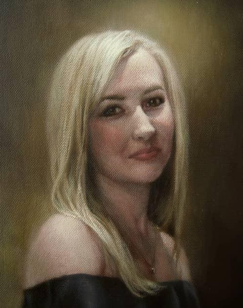 Портрет на заказ.Холст,масло,30х37 см.2018 г.