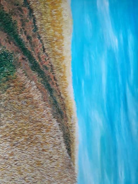Дорога в поле, художник Марта