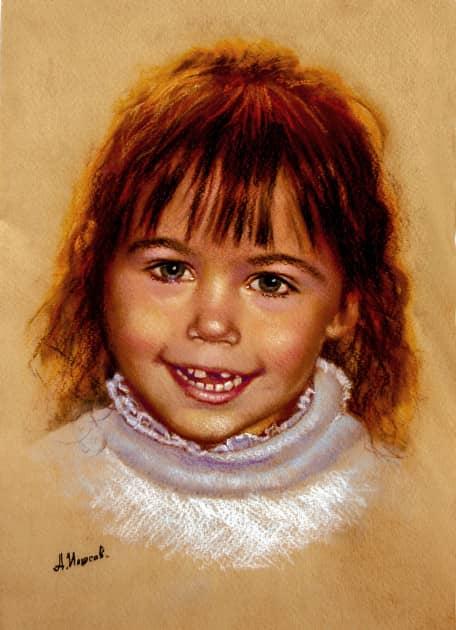 портрет внучки