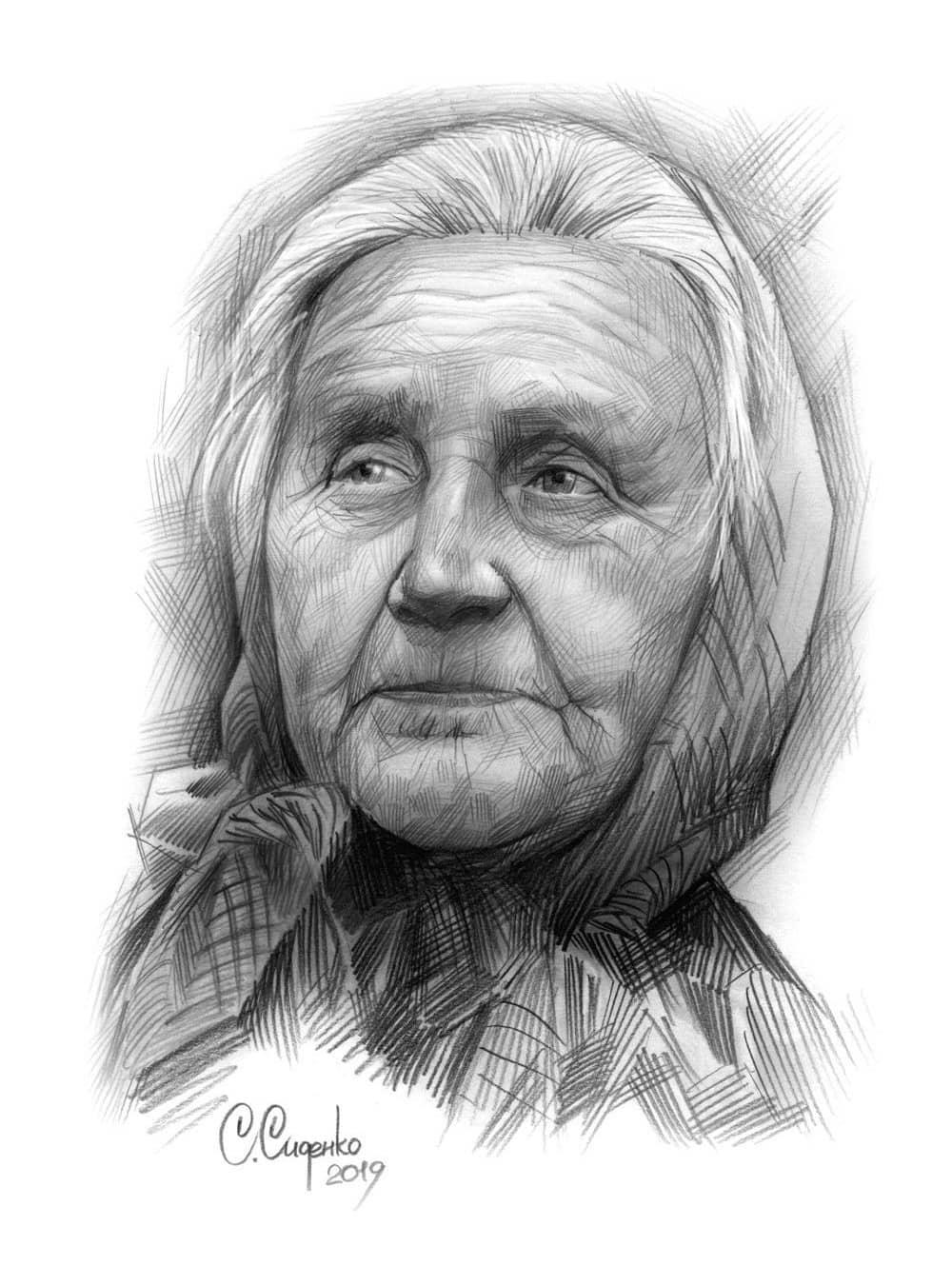 Женский портрет, сюжет 2