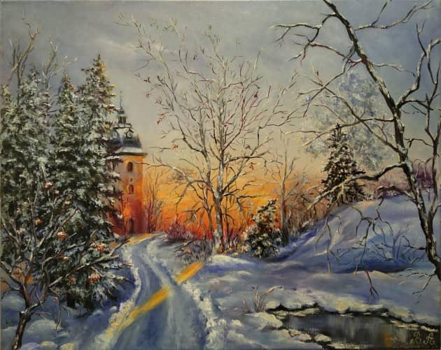 Зимний вечер, сюжет 2