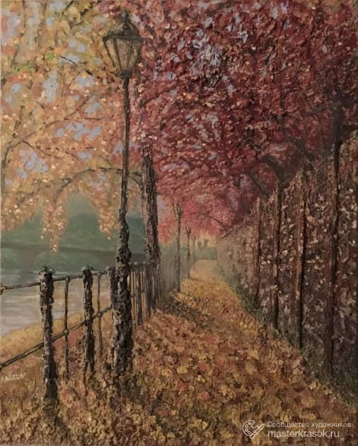 Осенняя аллея на реке