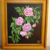 Розы в саду (1), художник Борис