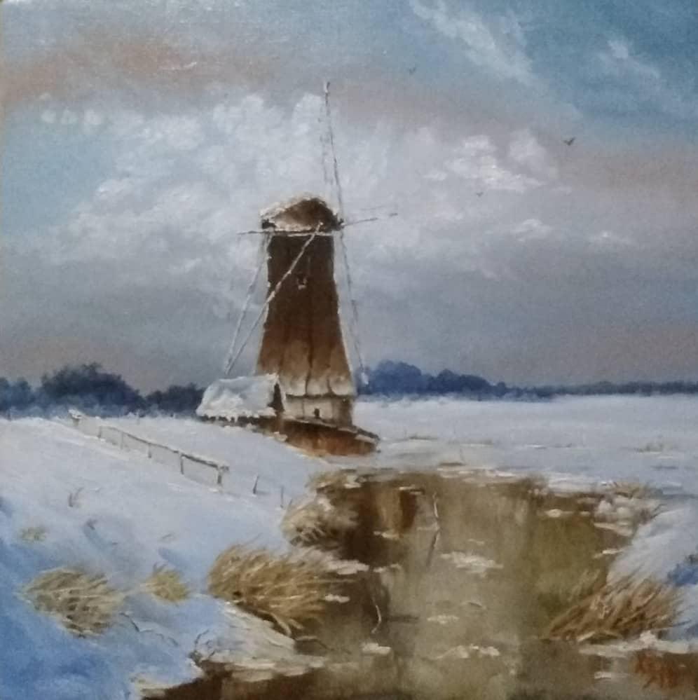 Зима. Мельница