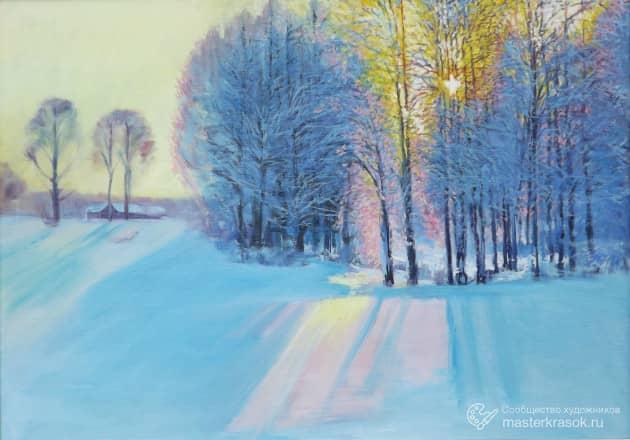 Зима.Солнце