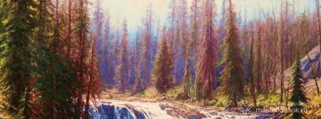 Таежный пейзаж, художник РОМАН шакиров