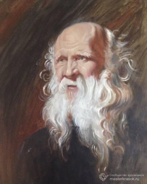 Портрет старика копия Рубенс