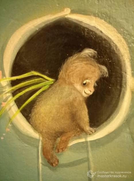 Существо из домика на стене