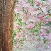 Сакура. (крагис, масло) (2), художник Светлана Тельгерова