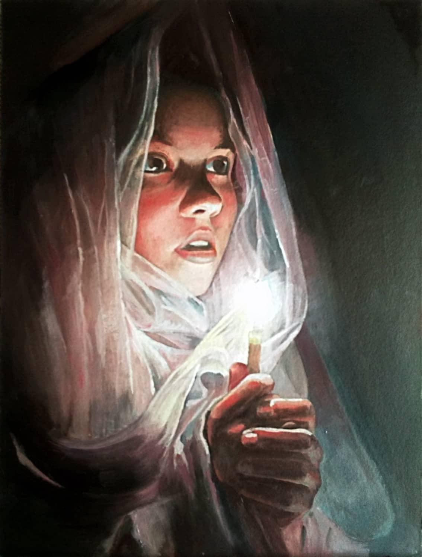 Девушка с горящей свечой