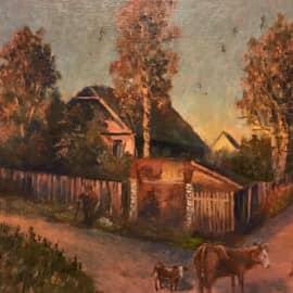 Рассвет в деревне