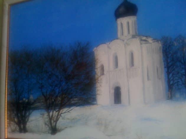 церковь Покрова на Нерли зимой