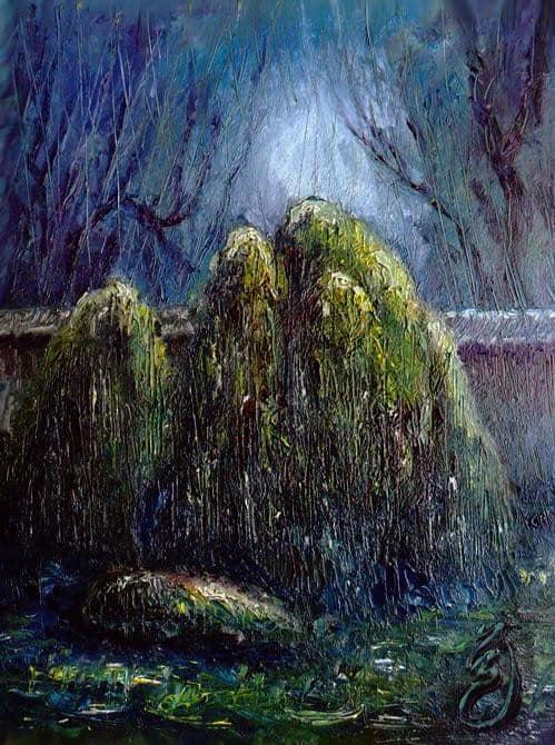 Ночной дождь в саду камней.