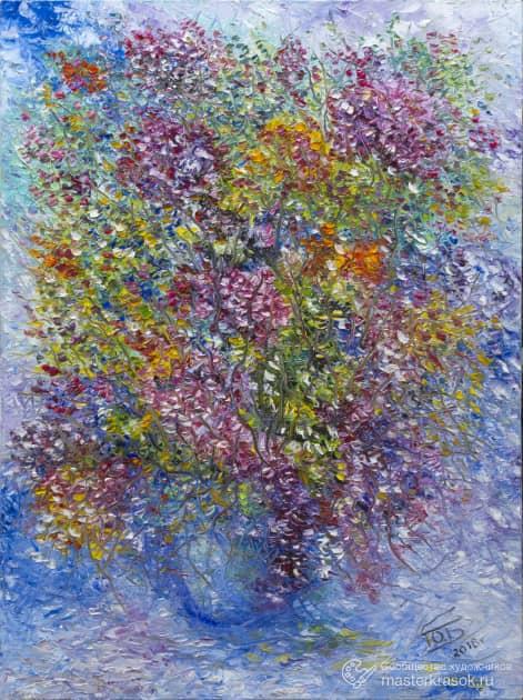 Цветы, художник Юрий Быков
