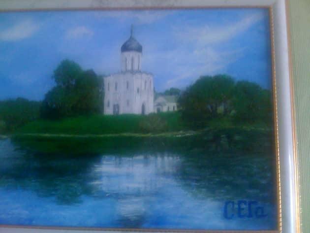 церковь Покрова на Нерли летом
