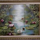 Кувшинки (1), художник Лариса Яркулова
