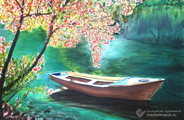 Лодка, художник Айдар Хуснуллин