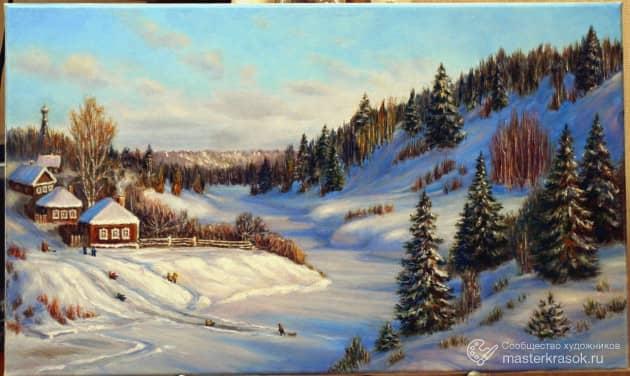 Зимний денек., художник Светлана Кирьянова Кирьянова
