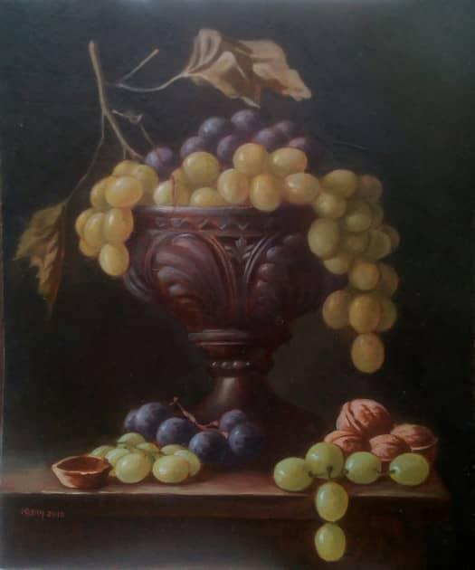 Виноград и грецкий орех
