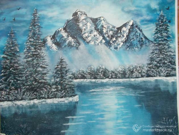 DSCN4216Горный пейзаж зимой.
