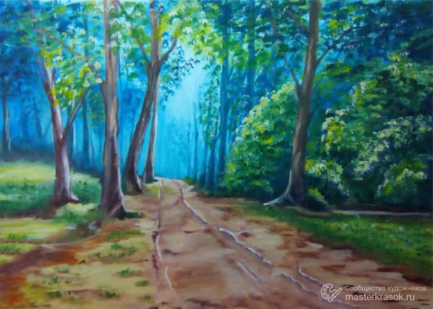 По лесной дороге..