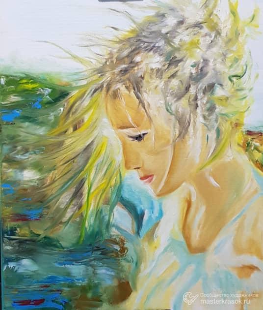 На ветру, художник Андрей Подволоцкий