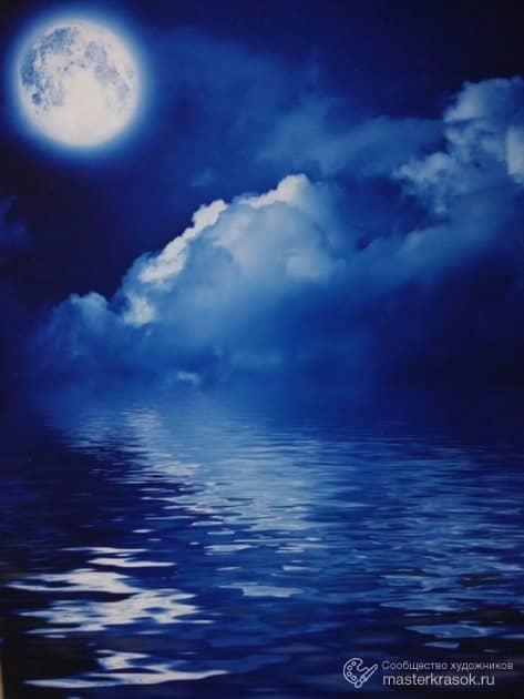 Ночь, художник Александра Иванюхина