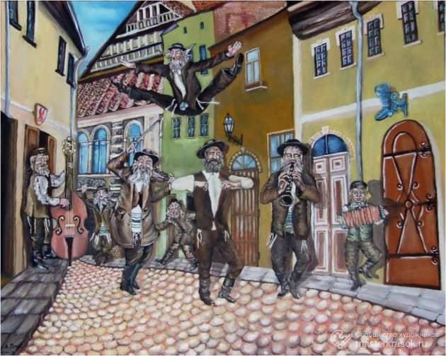Кляйзмеры на еврейской улице Вильны