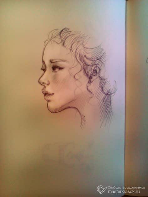 Портрет, художник Дарья Кузнецова