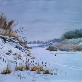 """Река замёрзла"""