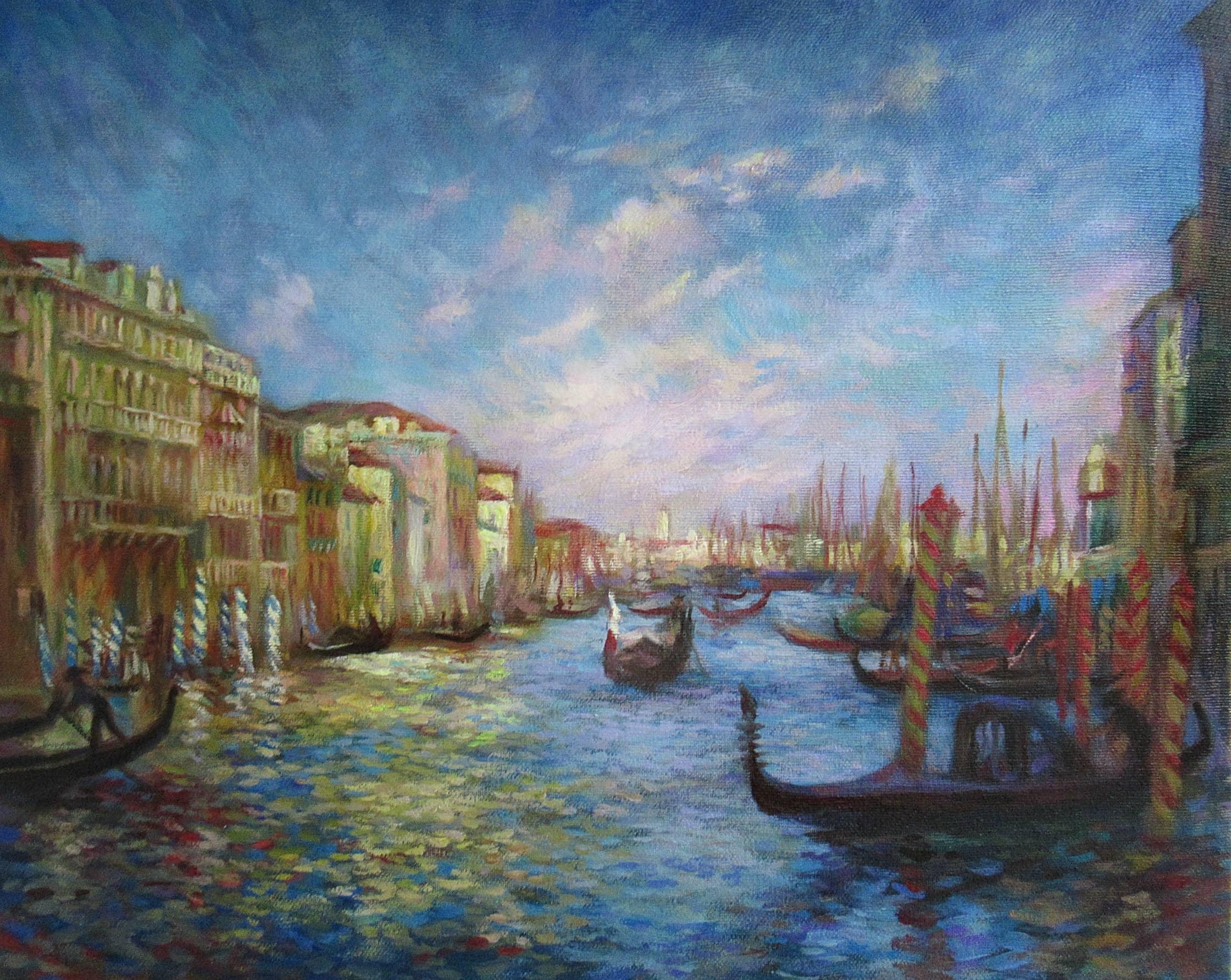 """Копия на заказ.(""""Большой канал в Венеции"""",Ренуар)"""