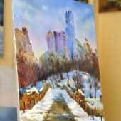 Вечерний Нью-Йорк (1), художник Валерий