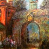 Провинциальный сюжет (Монастырь) (2), художник Александр