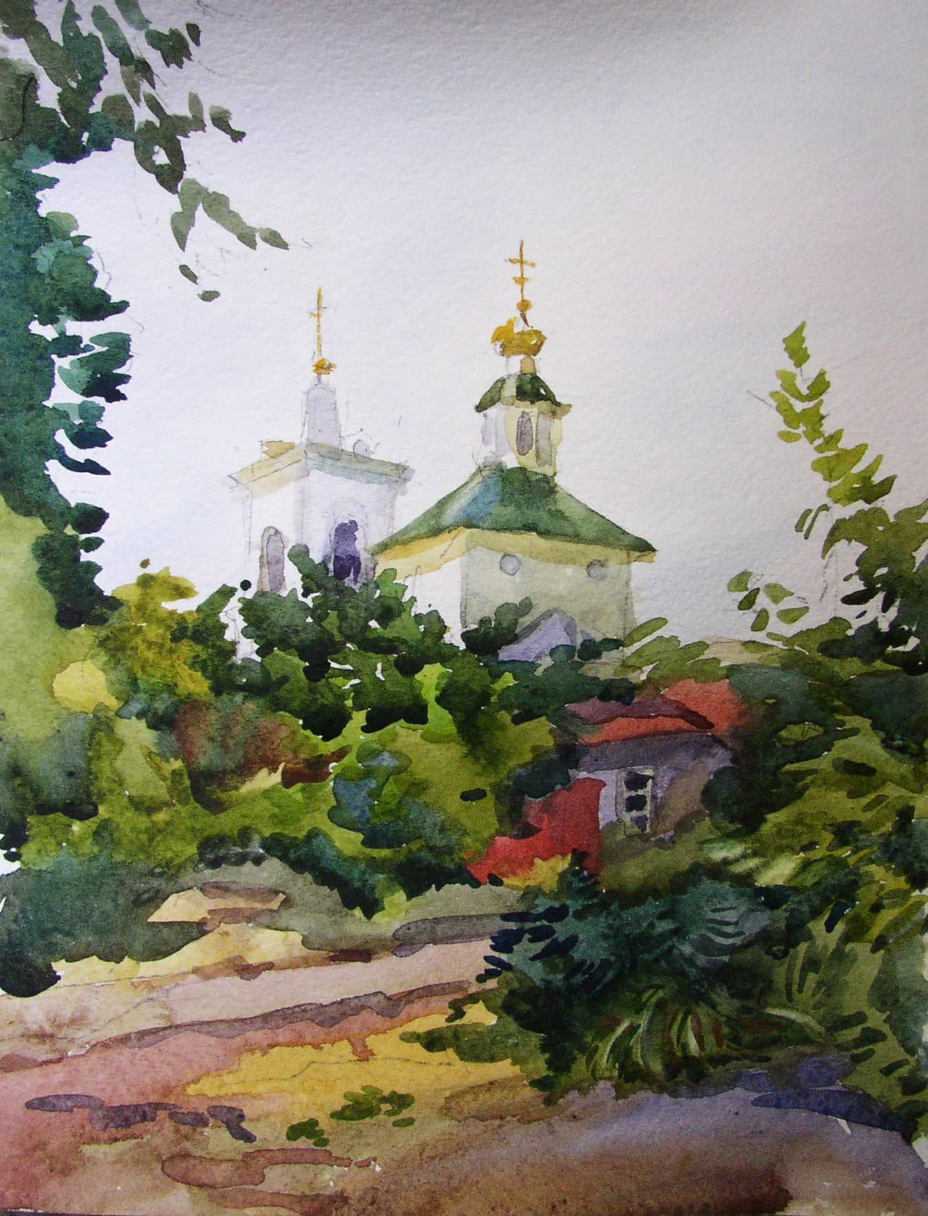 Воронеж. Вид на Тихвино-Онуфриевский храм.