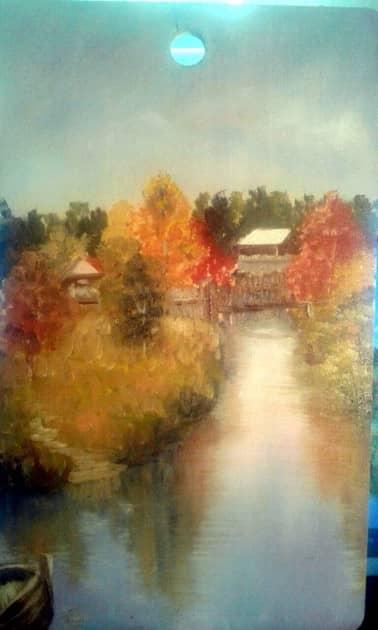 Тихая осень, художник Лариса Кулакова