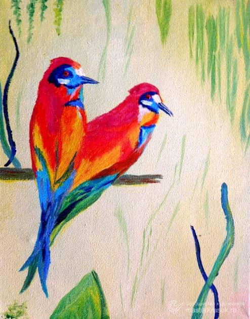 Птицы, художник Irina Mirosni