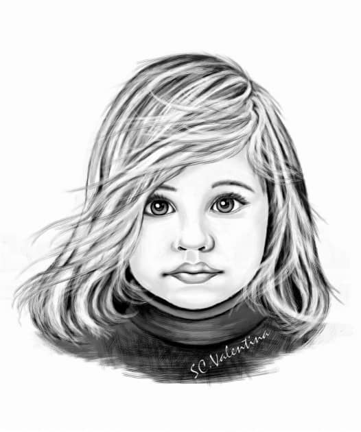 Маша, художник Valia Scripnic Scripnic