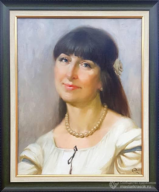 Портрет женщины с жемчужным ожерельем