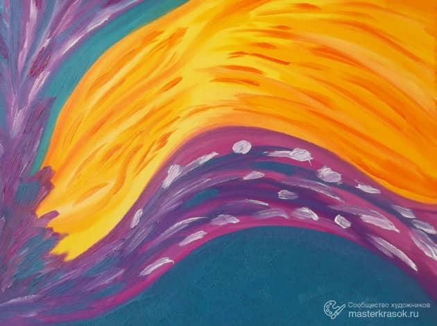 **Солнечный цветок**, художник Анатолий Лебедев