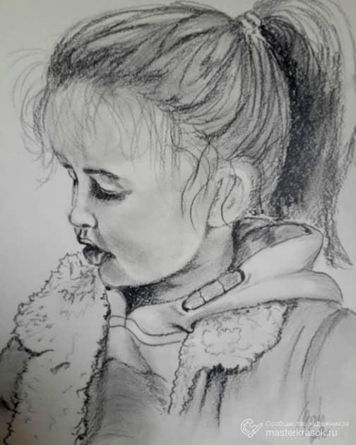 Портрет угольным карандашом
