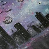 Призрачный город - Акрил (3), художник Светлана