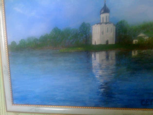 церковь Покрова на Нерли весной