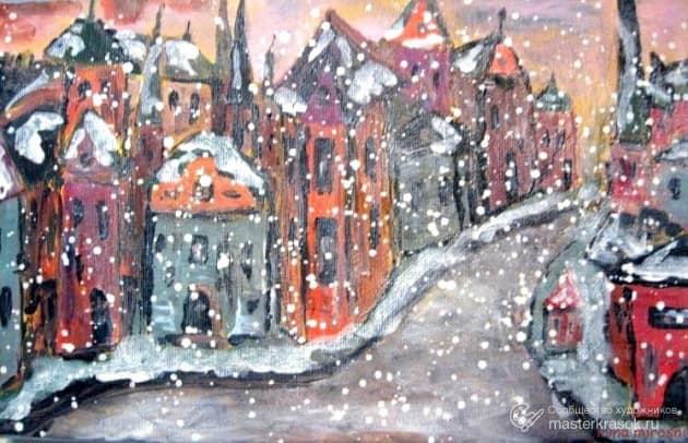 Снегопад в Старом Городе